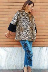 Pellicciotto ecologico Kaos leopardato
