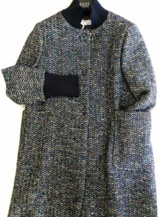 cappotto donna Kaos blu collezione 2017