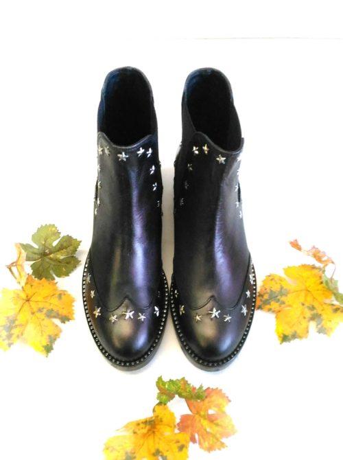 scarpa donna tronchetto basso borchie alto