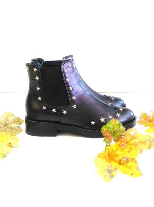 scarpa donna tronchetto basso stelle