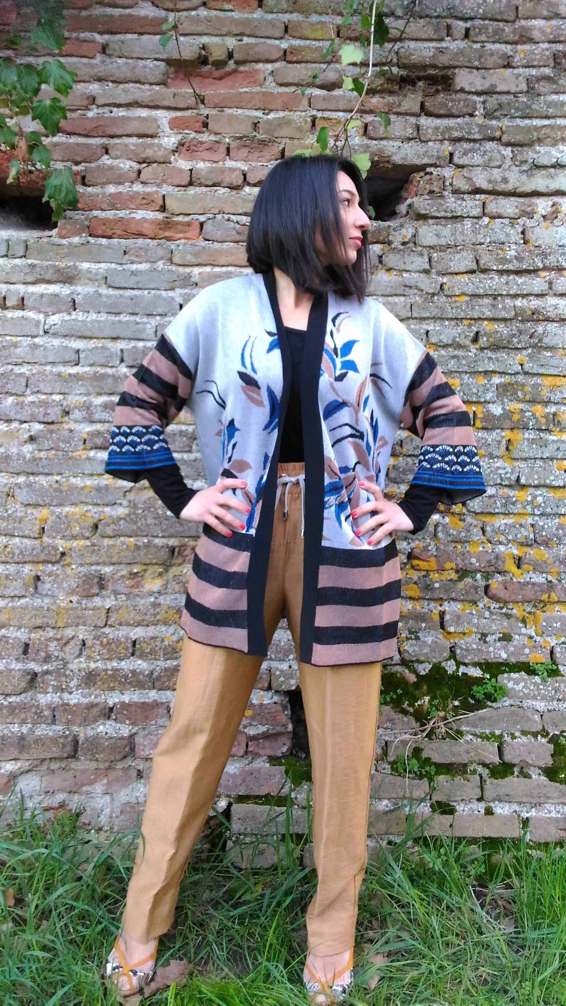 Cardigan Kaos in lurex con cintura