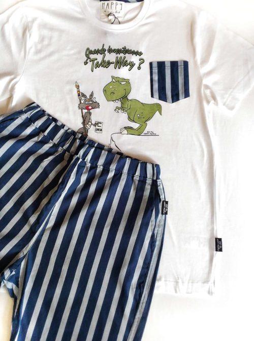 dettaglio pigiama uomo Happy Stripes