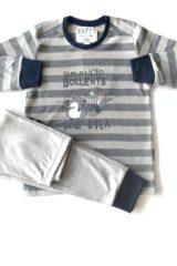 dettaglio pigiama bimbo maglia righe