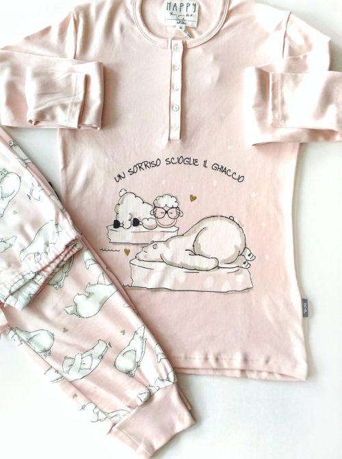 dettaglio pigiama donna orso polare