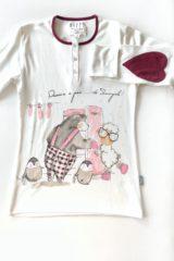 dettaglio t-shirt pigiama donna pinguini