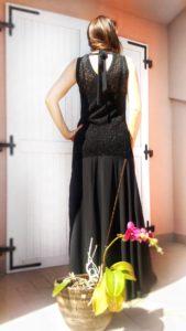 abito elegante lungo nero collezione kaos