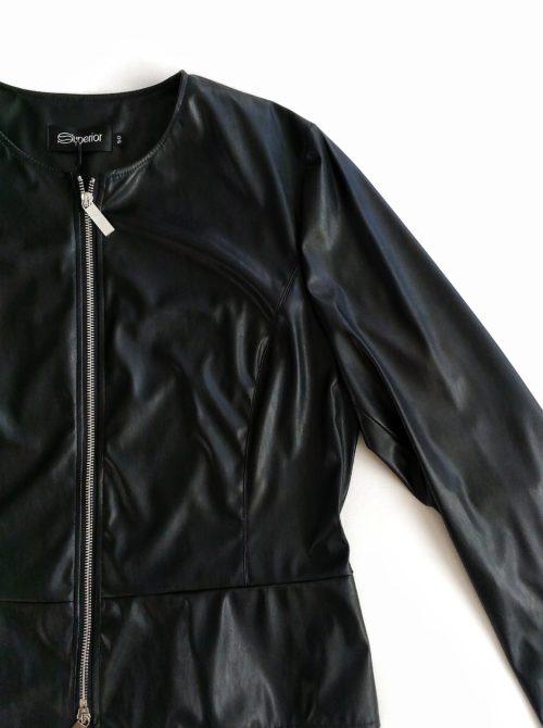 dettaglio giacca ecopelle Superior