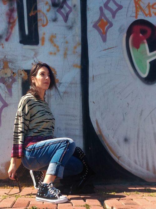 jeans donna collezione kaos con strasses