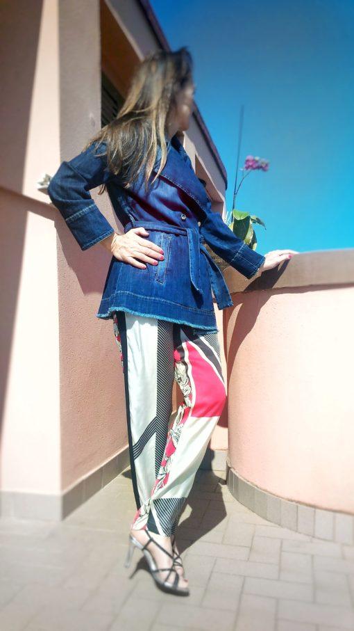 pantalone donna collezione kaos due fantasie