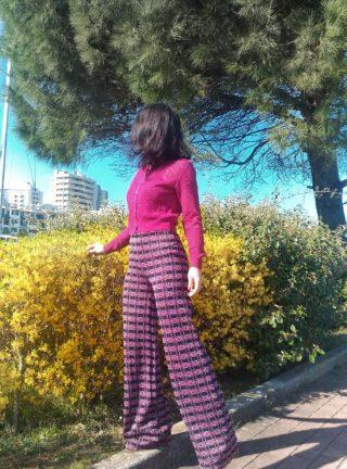 pantalone donna collezione kaos in lurex