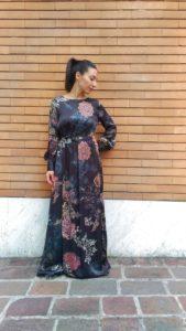 abito donna lungo in fantasia collezione Kaos