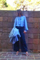 camicia donna collezione Kaos con fiocco