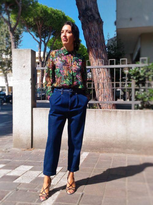 camicia donna collezione Kaos fantasia jungle
