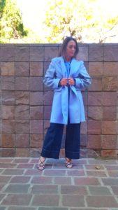 cappotto azzurro collezione Kaos