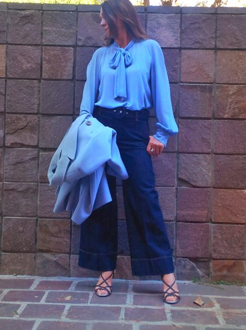 dettaglio jeans donna collezione kaos gamba larga
