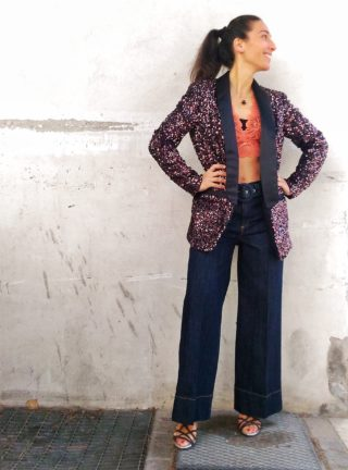 giacca paillettes collezione Kaos modello blazer