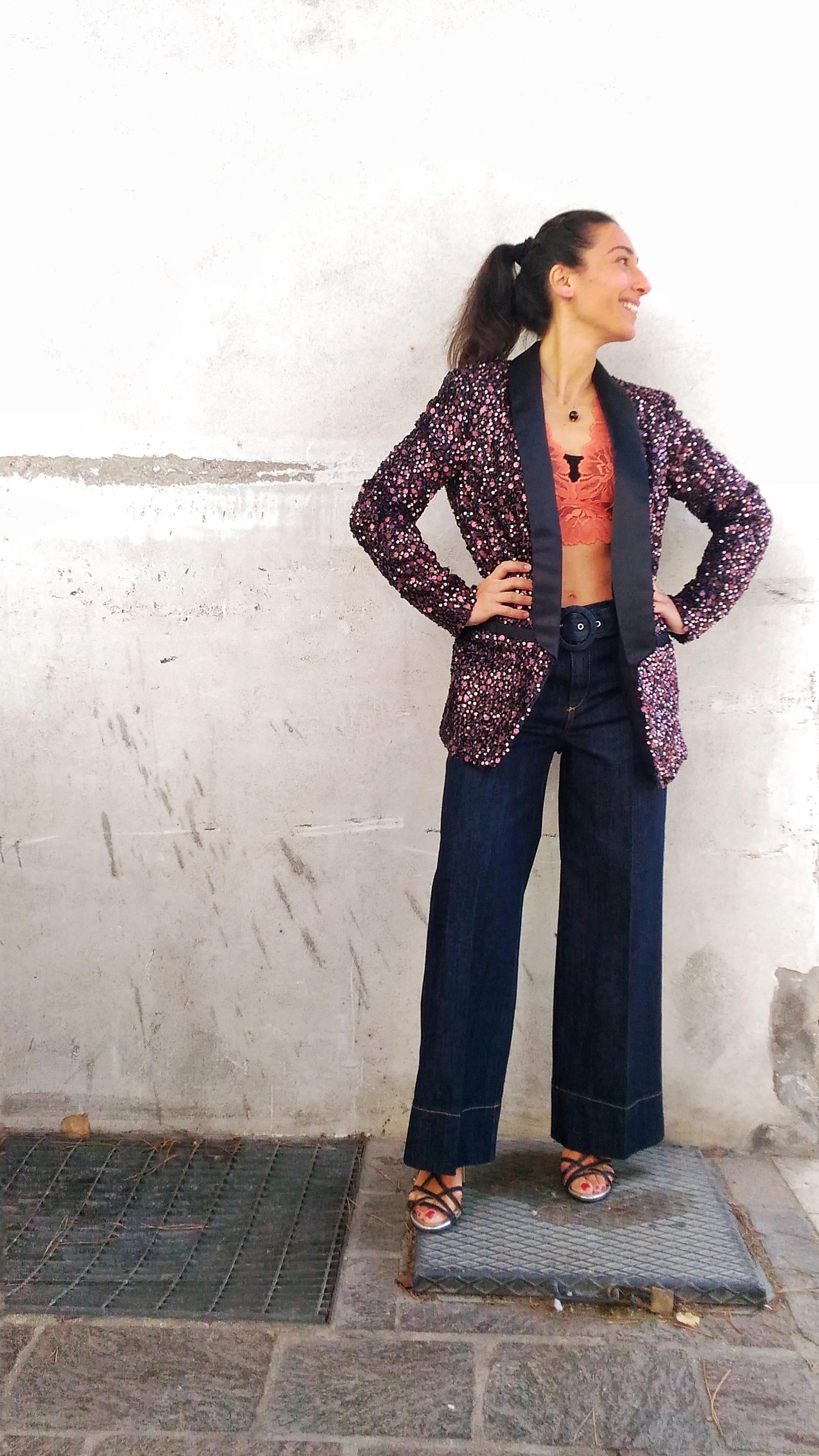 grande sconto di vendita uomo comprare nuovo giacca paillettes collezione Kaos modello blazer