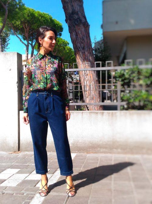 jeans donna collezione Kaos con elastico in vita e pinces