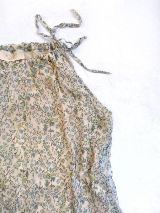 Abito donna Kaos nuova collezione in fantasia provenzale scollo all'americana dettaglio fiocco