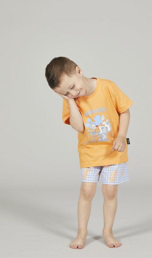 Pigiama bimbo corto Happy People lupo alberto santorini t-shirt arancio