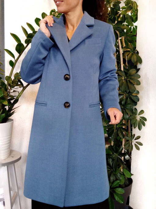 Cappotto donna azzurro collezione Kaos 2 bottoni