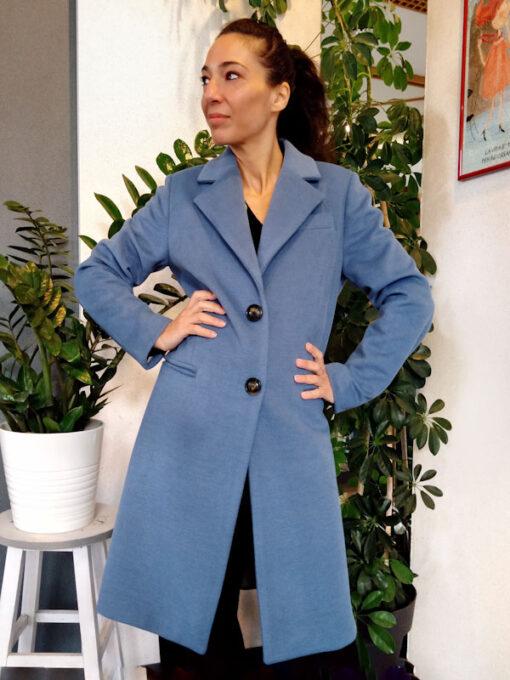 Cappotto donna azzurro collezione Kaos