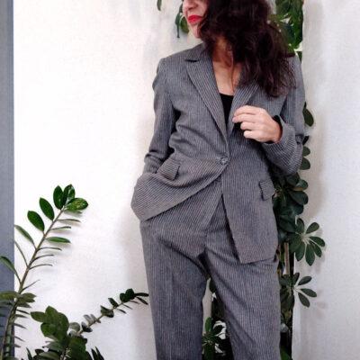 Giacca donna grigio gessato collezione Kaos