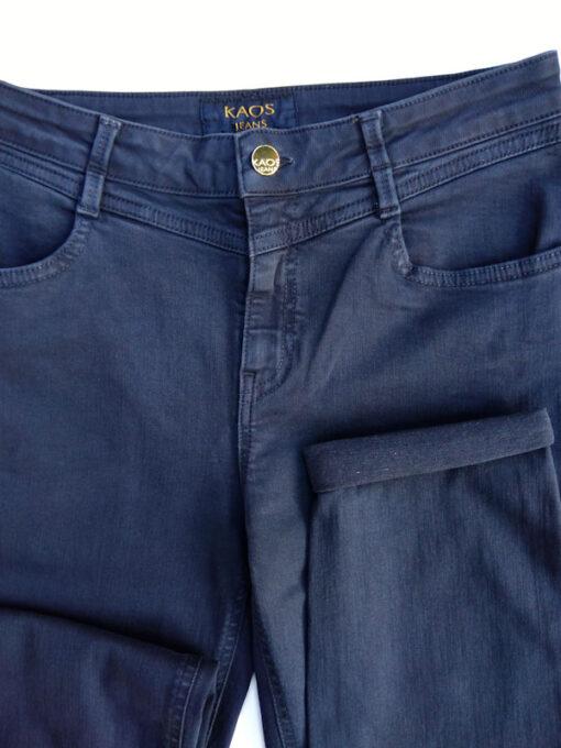 Pantalone donna Kaos cinque tasche in cotone stretch blu