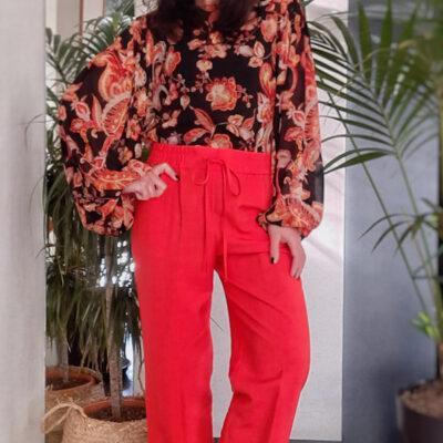 pantalone donna Kaos vita alta con elastico