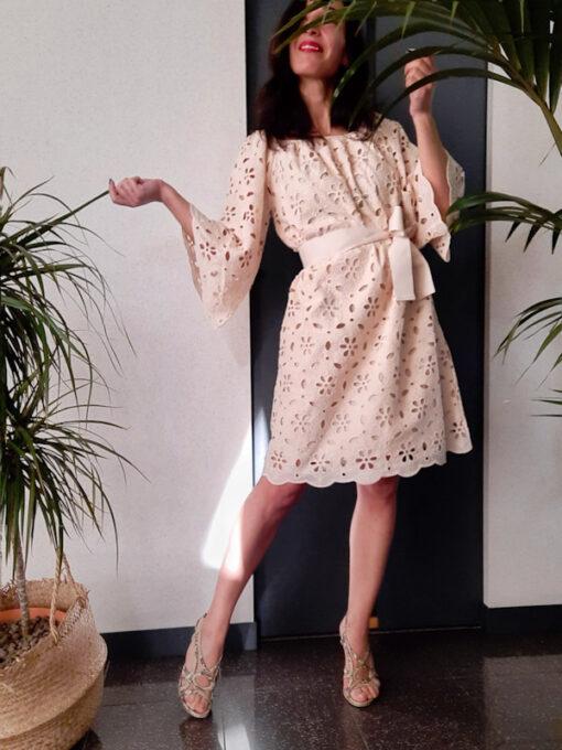 abito donna collezione Kaos in pizzo di cotone