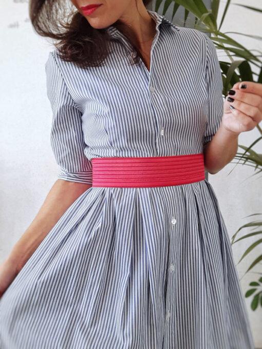 abito lungo Kaos a camicia in cotone