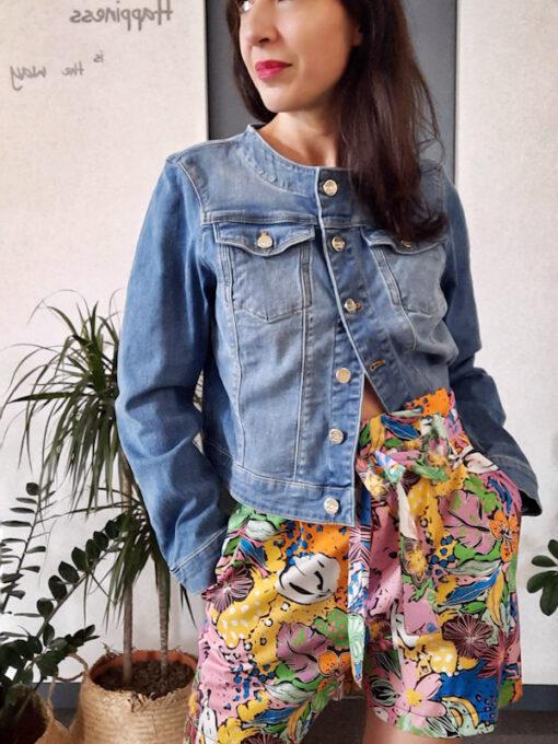 giacca donna in jeans collezione Kaos girocollo