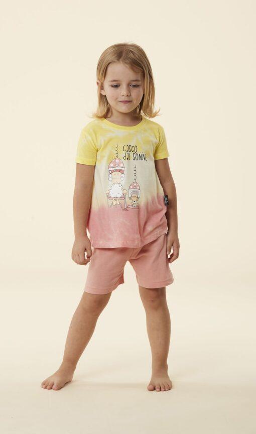 pigiama bimba corto Happy People tye & dye