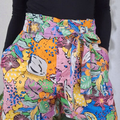 shorts donna Kaos in cotone e fantasia multicolor