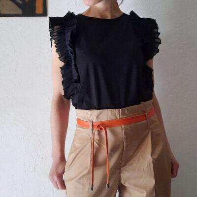t-shirt donna collezione Kaos in cotone con rouches