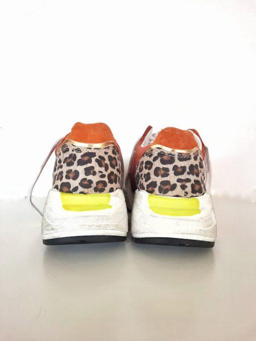Sneakers donna basse sportive esclusiva Ovyè per Kaos dettaglio animalier