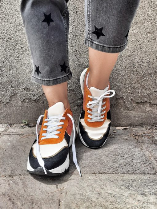 Sneakers donna basse sportive mix and match