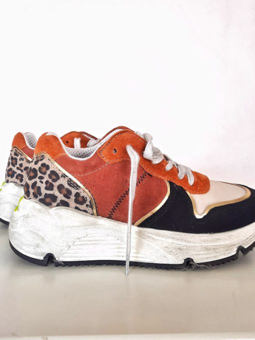 Sneakers donna basse sportive suola in gomma bianca