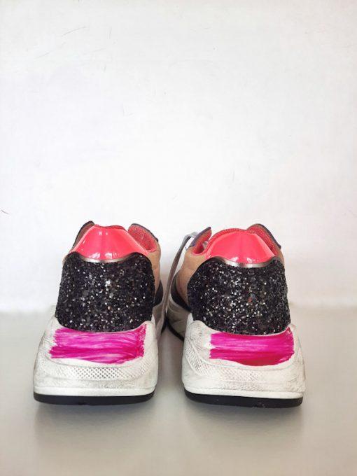 Sneakers donna sportive esclusiva Ovyè per Kaos dettaglio glitter tallone